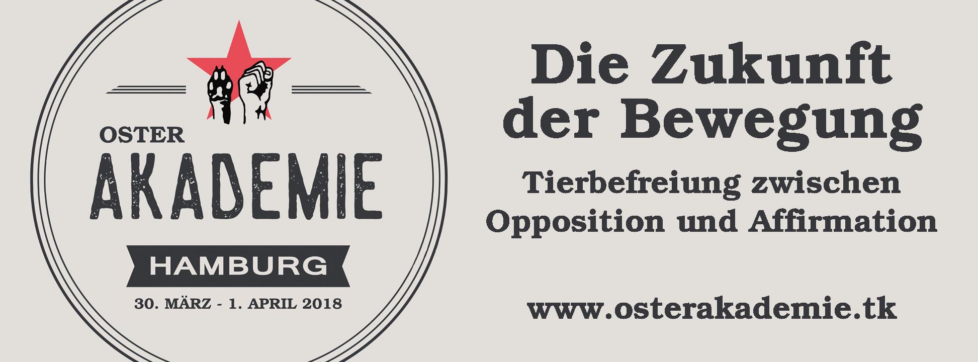 """Das Bündnis Marxismus und Tierbefreiung organisiert vom 30. März bis 1.  April 2018 in Hamburg ein Veranstaltungswochenende unter dem Titel """"Die  Zukunft der ..."""